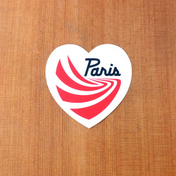 "Paris Sticker 4"" White Heart"