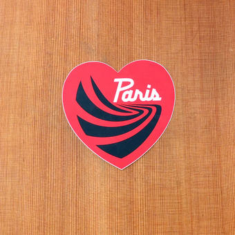 "Paris Sticker 4"" Red Heart"