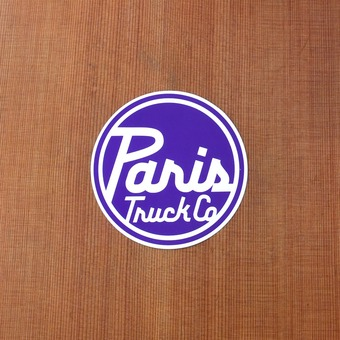 "Paris Sticker 3.5"" Purple Circle"