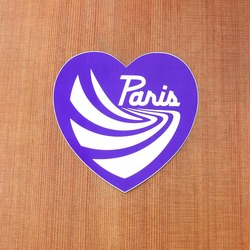 "Paris Sticker 4.75"" Purple Heart"