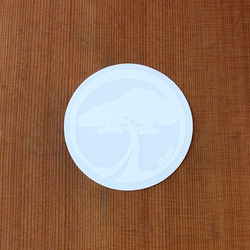 "Arbor Sticker 3"" Tree White Circle"