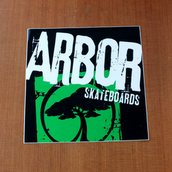 "Arbor Sticker 5.5"" Square Green"