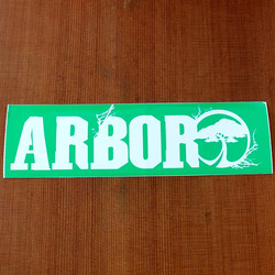 "Arbor Sticker 8"" Rectangle Green"
