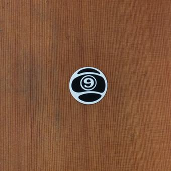 "Sector 9 Sticker 1.25"" Circle Nineball Black"