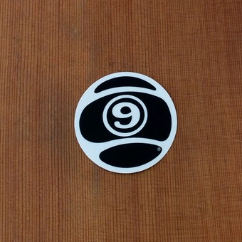 "Sector 9 Sticker 2.5"" Circle Nineball Black"
