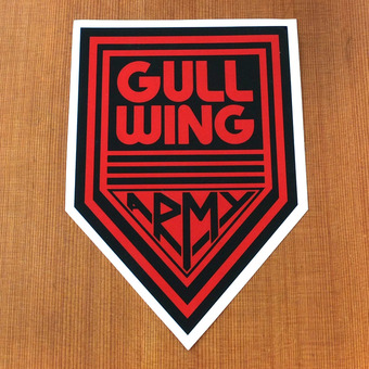 Gullwing Sticker Army Large