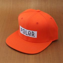 Poler Furry Font Snapback Hat- Orange