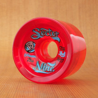 Sector 9 Top Shelf Slalom 69mm 78a Wheels - Red