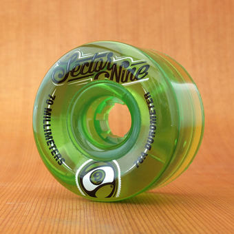 Sector 9 Top Shelf 70mm 78a Wheels - Green