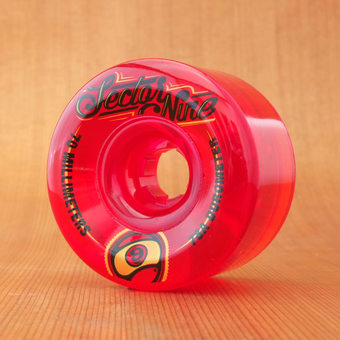 Sector 9 Top Shelf 70mm 78a Wheels - Red