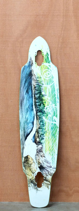 "Sector 9 39"" Northern Lights Longboard Deck - Green"
