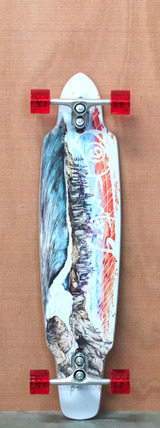 "Sector 9 39"" Northern Lights Longboard Complete - Red"