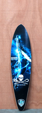 "Sector 9 38"" Sea Shepherd Sea No Evil Longboard Deck"