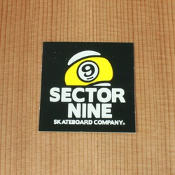 "Sector 9 Sticker 2.125"" Black Square"