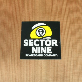 "Sector 9 Sticker 1.5"" Black Square"
