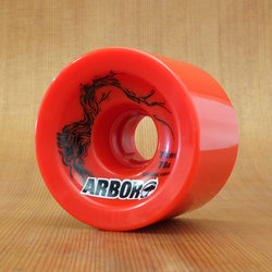 Arbor 72mm 78a Red Freeride Wheels