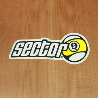 "Sector 9 Sticker 6"" Circle Nineball with Letters"