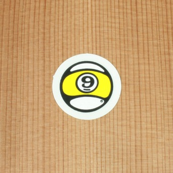 "Sector 9 Sticker 1"" Circle Nineball"