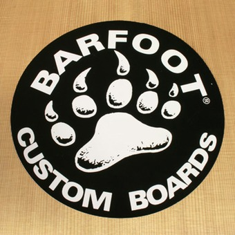 Barfoot Sticker Black Round Custom