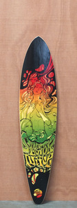 "Sector 9 40"" Fanatic Red Longboard Deck"