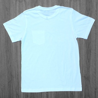 Poler Arrowhead Pocket White T- Shirt