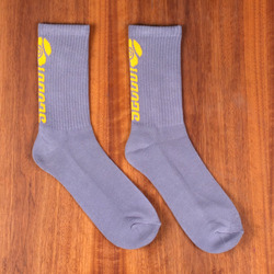 Sector 9 Backside Logo Socks - Grey