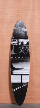 "Madrid 38.5"" Collage Longboard Deck"