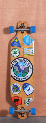 "Madrid 39"" Patches Drop Thru Longboard Complete"