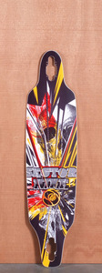 "Sector 9 40"" Fractured Red Longboard Deck"