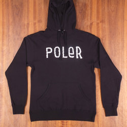Poler Furry Font Black Sweatshirt