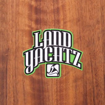 "Landyachtz Sticker 3.25"" Black and Green"