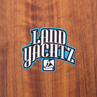 "Landyachtz Sticker 3.25"" Blue and Black"