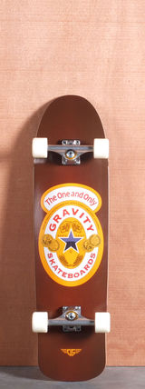 "Gravity 35"" Brown Ale Longboard Complete"