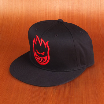 Spitfire Bighead Snapback Hat - Black/Red/Grey