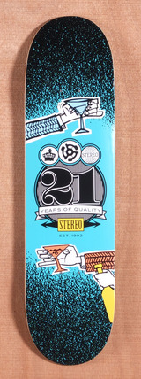 "Stereo Cheers 21 Years 8.25"" Skateboard Deck"
