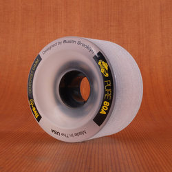 Bustin Five-O 64mm 80a Wheels - Clear/Yellow