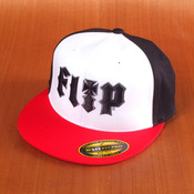 Flip HKD 3D Flexfit White/Black/Red Hat