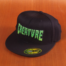 Creature Logo Fade Flexfit Hat - Black