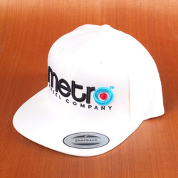 Metro Logo 3D Pop Snap Back Hat - White