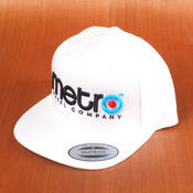 Metro Logo 3D Pop Snapback Hat White