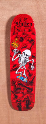 "Powell 27.5"" Bones Brigade Mullen Skateboard Deck - Red"