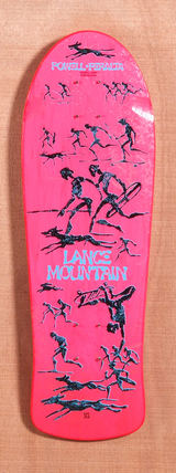 "Powell 30.5"" Bones Brigade Mountain Skateboard Deck - Pink"