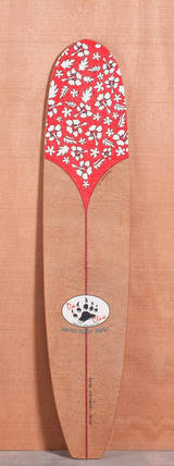 "Barfoot 44"" Nose Rider Floral Longboard Deck"