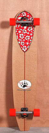 """Barfoot 44"""" Nose Rider Floral Longboard Complete"""