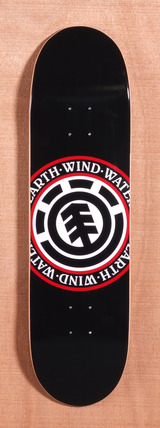 "Element Seal Black 8.5"" Skateboard Deck"