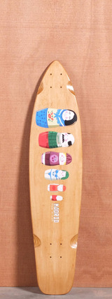 "Madrid 38.25"" Russian Dolls Longboard Deck"