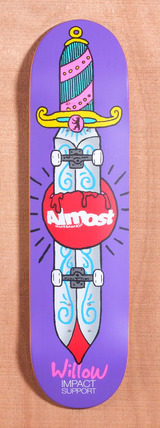 "Almost Willow Skate Knife 8.1"" Skateboard Deck"