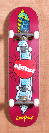 "Almost Wilt Skate Knife 8.1"" Skateboard Complete"