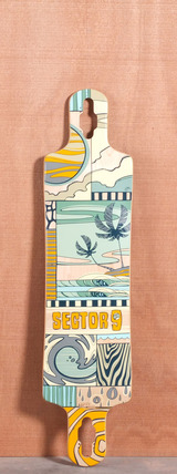 "Sector 9 40.5"" Paradiso Longboard Deck - Yellow"
