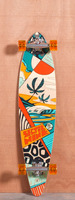 "Sector 9 40"" Island Time Orange Longboard Complete"